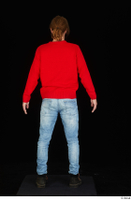 Ricky Rascal casual dressed jeans red sweater shoes standing whole body 0005.jpg