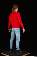 Ricky Rascal casual dressed jeans red sweater shoes standing whole body 0006.jpg