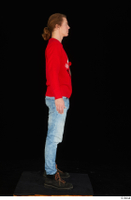 Ricky Rascal casual dressed jeans red sweater shoes standing whole body 0007.jpg