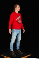 Ricky Rascal casual dressed jeans red sweater shoes standing whole body 0008.jpg