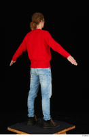 Ricky Rascal casual dressed jeans red sweater shoes standing whole body 0014.jpg