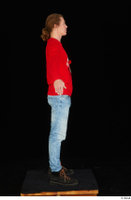 Ricky Rascal casual dressed jeans red sweater shoes standing whole body 0015.jpg