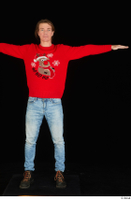 Ricky Rascal casual dressed jeans red sweater shoes standing t poses whole body 0001.jpg