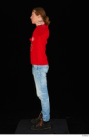Ricky Rascal casual dressed jeans red sweater shoes standing t poses whole body 0003.jpg
