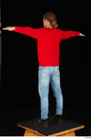 Ricky Rascal casual dressed jeans red sweater shoes standing t poses whole body 0004.jpg