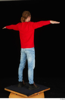 Ricky Rascal casual dressed jeans red sweater shoes standing t poses whole body 0006.jpg