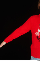 Ricky Rascal arm casual dressed red sweater upper body 0001.jpg