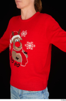 Ricky Rascal casual dressed red sweater upper body 0002.jpg