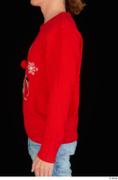 Ricky Rascal arm casual dressed red sweater upper body 0003.jpg