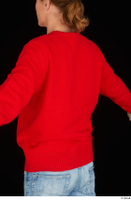Ricky Rascal casual dressed red sweater upper body 0004.jpg