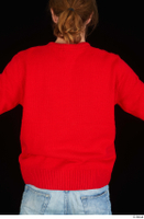 Ricky Rascal casual dressed red sweater upper body 0005.jpg