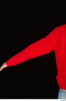 Ricky Rascal arm casual dressed red sweater upper body 0004.jpg