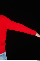 Ricky Rascal arm casual dressed red sweater upper body 0005.jpg