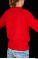 Ricky Rascal casual dressed red sweater upper body 0006.jpg