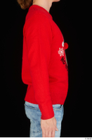 Ricky Rascal arm casual dressed red sweater upper body 0006.jpg