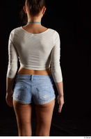 Katy Rose  1 arm back view dressed flexing long sleeve t shirt 0001.jpg
