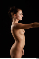 Katy Rose  3 45 degrees arm arm flexing nude side view 0001.jpg