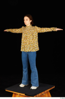 Elmira blouse dressed jeans shoes standing t poses white sneakers whole body 0002.jpg