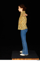 Elmira blouse dressed jeans shoes standing t poses white sneakers whole body 0003.jpg