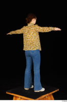 Elmira blouse dressed jeans shoes standing t poses white sneakers whole body 0006.jpg