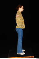 Elmira blouse dressed jeans shoes standing t poses white sneakers whole body 0007.jpg