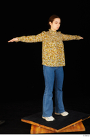 Elmira blouse dressed jeans shoes standing t poses white sneakers whole body 0008.jpg