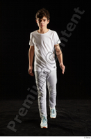 Duke  1 dressed front view jogging suit sports sweatsuit t shirt walking whole body 0002.jpg