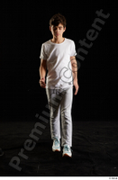 Duke  1 dressed front view jogging suit sports sweatsuit t shirt walking whole body 0004.jpg