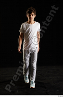 Duke  1 dressed front view jogging suit sports sweatsuit t shirt walking whole body 0005.jpg