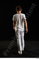 Duke  1 back view dressed jogging suit sweatsuit t shirt walking whole body 0001.jpg