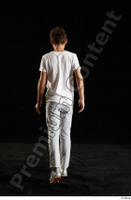 Duke  1 back view dressed jogging suit sweatsuit t shirt walking whole body 0002.jpg