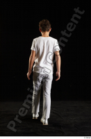 Duke  1 back view dressed jogging suit sweatsuit t shirt walking whole body 0003.jpg