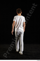 Duke  1 back view dressed jogging suit sweatsuit t shirt walking whole body 0004.jpg