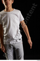 Duke  1 arm dressed flexing front view sports t shirt 0001.jpg