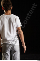 Duke  1 arm back view dressed flexing sports t shirt 0001.jpg