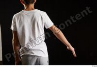 Duke  1 arm back view dressed flexing sports t shirt 0002.jpg
