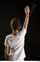 Duke  1 arm back view dressed flexing sports t shirt 0005.jpg