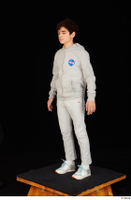 Duke dressed jogging suit sneakers sports standing sweatsuit whole body 0002.jpg