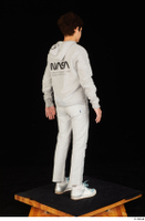 Duke dressed jogging suit sneakers sports standing sweatsuit whole body 0006.jpg