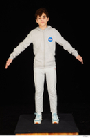 Duke dressed jogging suit sneakers sports standing sweatsuit whole body 0009.jpg