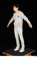 Duke dressed jogging suit sneakers sports standing sweatsuit whole body 0010.jpg