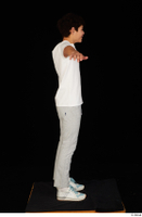 Duke dressed jogging suit sneakers sports standing sweatsuit t poses t shirt whole body 0007.jpg