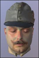 Army uniform World War 3D Scan of Head 01