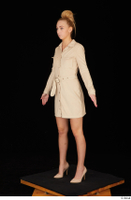 Jenny Wild beige dress business dressed high heels standing whole body 0002.jpg