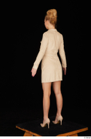 Jenny Wild beige dress business dressed high heels standing whole body 0004.jpg