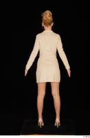 Jenny Wild beige dress business dressed high heels standing whole body 0005.jpg