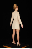 Jenny Wild beige dress business dressed high heels standing whole body 0006.jpg