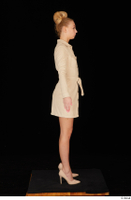 Jenny Wild beige dress business dressed high heels standing whole body 0007.jpg