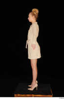 Jenny Wild beige dress business dressed high heels standing whole body 0011.jpg