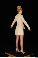 Jenny Wild beige dress business dressed high heels standing whole body 0014.jpg